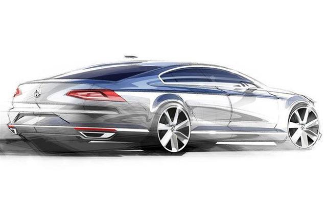 Así son los bocetos oficiales del nuevo Volkswagen Passat  2