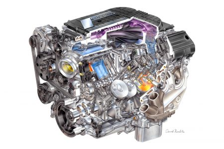 "2015 ""LT4"" 6.2L V-8 AFM VVT DI SC (LT4) for Chevrolet Corvette Z,2015 ""LT4"" 6.2L V-8 AFM VVT DI SC (LT4) for Chevrolet Corvette Z06 - David Kimble Illustration,2015 ""LT4"" 6.2L V-8 AFM VVT DI SC (LT4) for Chevrolet Corvette Z"