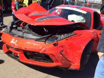 Destrozan un Ferrari 458 Speciale durante un track-day en Sudafrica
