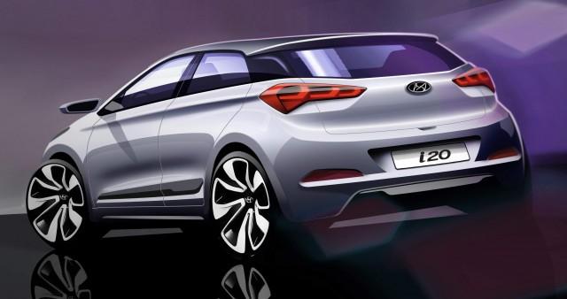 Nuevo Hyundai i20: Primeros bocetos oficiales 1
