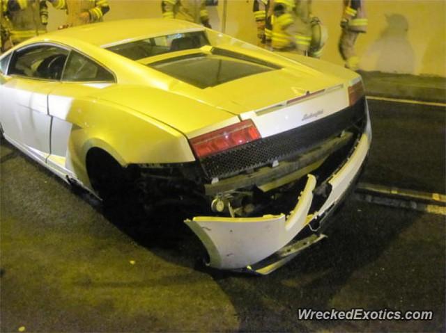 Un Lamborghini Gallardo sufre una accidente dentro de un túnel austríaco 3