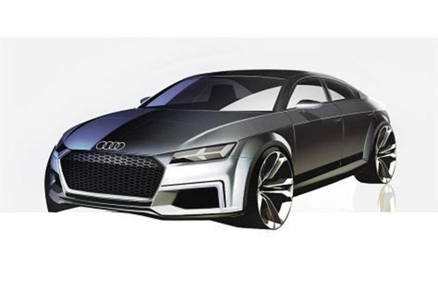 El prototipo Audi TT Sportback estará en París, primeros bocetos oficiales 2