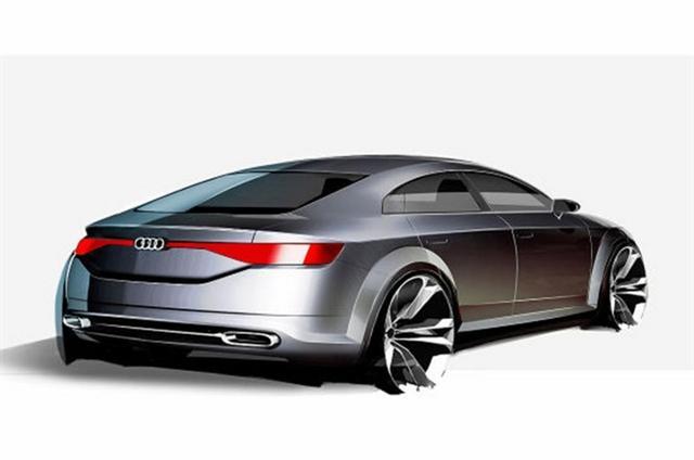 El prototipo Audi TT Sportback estará en París, primeros bocetos oficiales 3