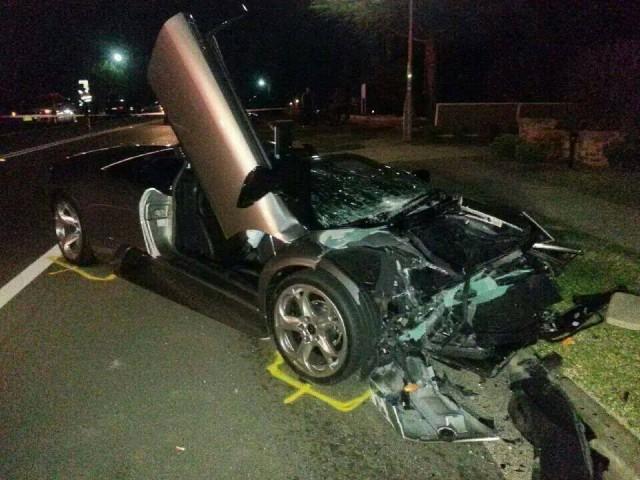 Estrellan un Lamborghini Murciélago contra un Honda SUV en Sydney 4