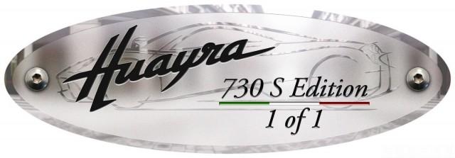 Único en el mundo, Pagani Huayra 730 S Edition 3