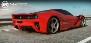 W70, un superdeportivo creado en Orlando inspirado en las líneas de Ferrari LaFerrari 1