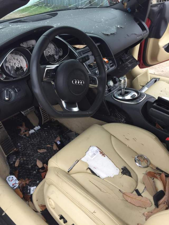 Destruye el Audi R8 de su marido al enterarse de una infidelidad 3