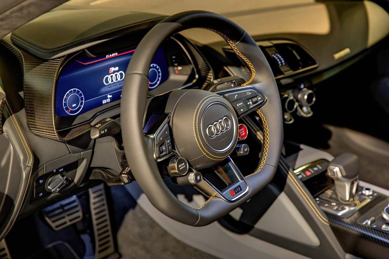 Al natural: Audi R8 V10 Plus en Vegas Yellow 3