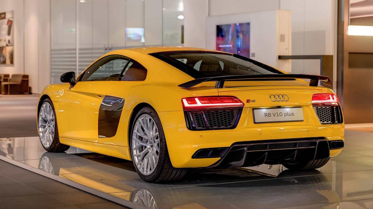 Al natural: Audi R8 V10 Plus en Vegas Yellow 4