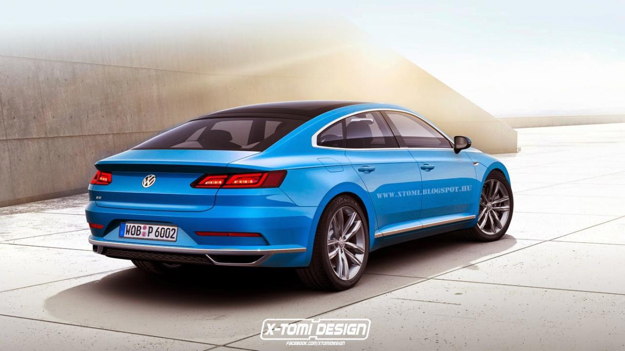 Un vistazo al Volkswagen CC, lo veremos en un año 2