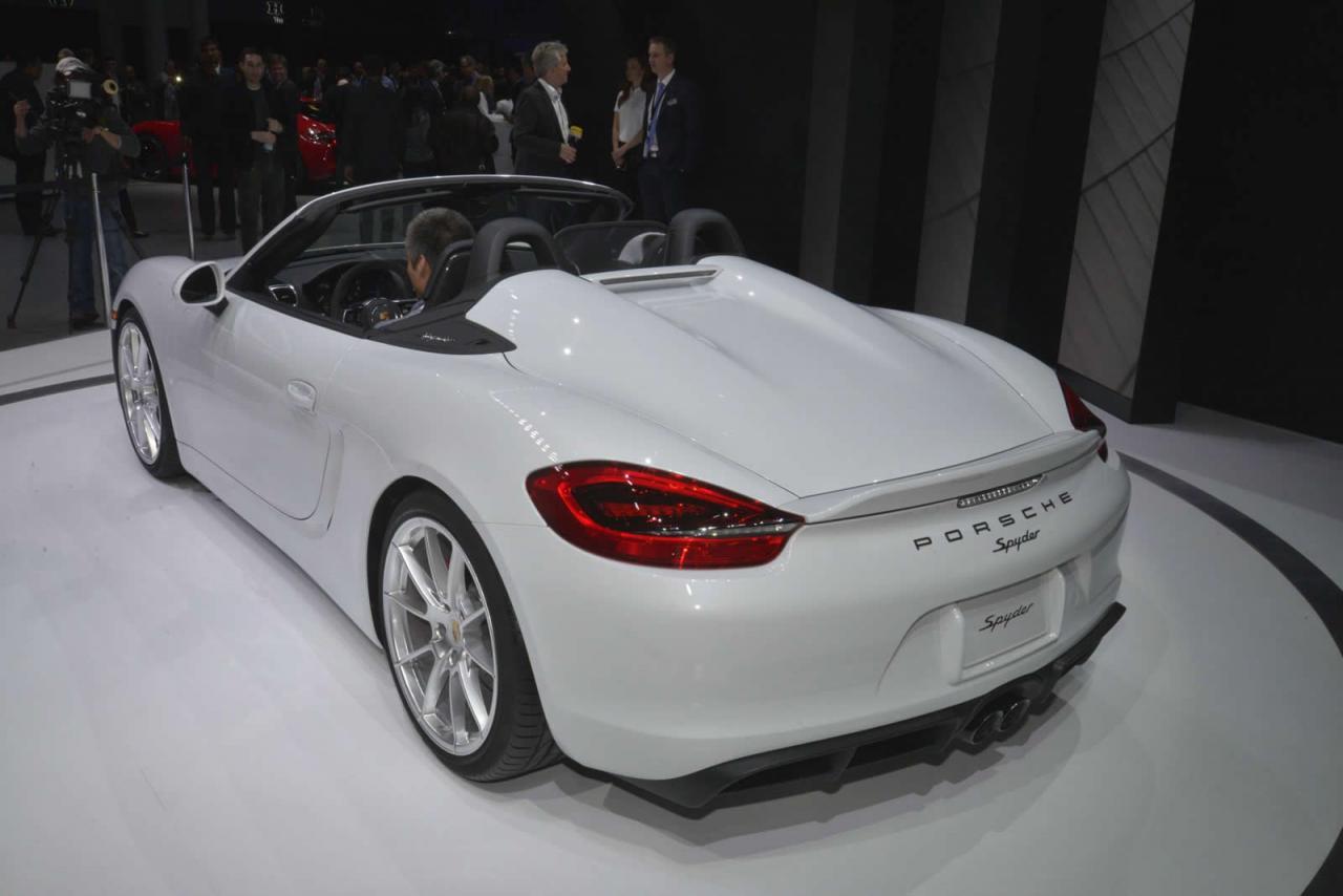 Desde Nueva York: Porsche Boxster Spyder, en vivo 2
