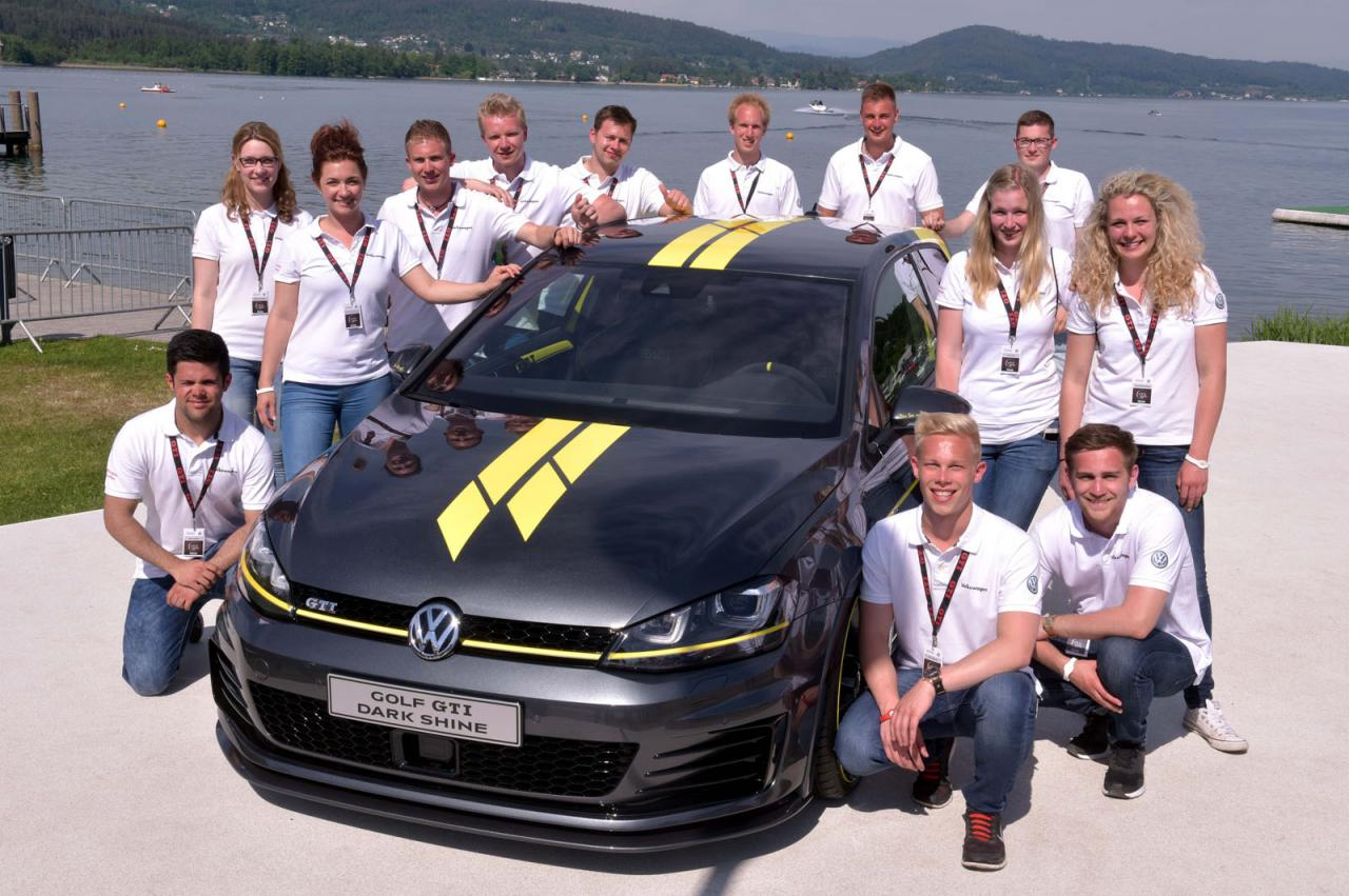 Volkswagen Golf GTI Dark Shine, brillando en Wörthersee con 395 caballos y creado por estudiantes 3