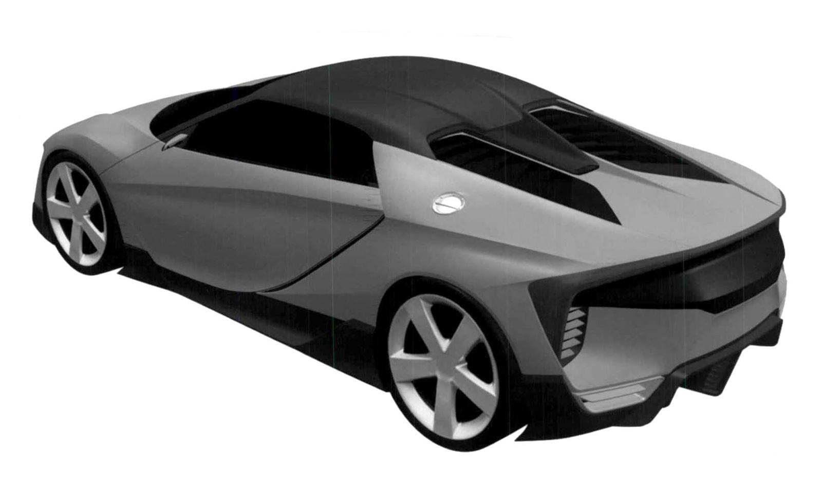 Se filtran unas patentes de un mini-Honda NSX de motor central 2