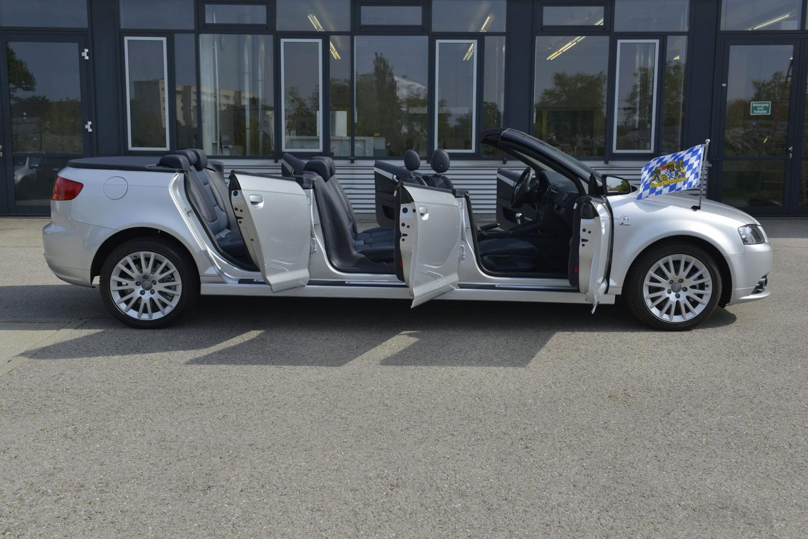 Sí, tus ojos no te engañan: Esto es un Audi A3 Cabrio de seis puertas y ocho ocupantes 4