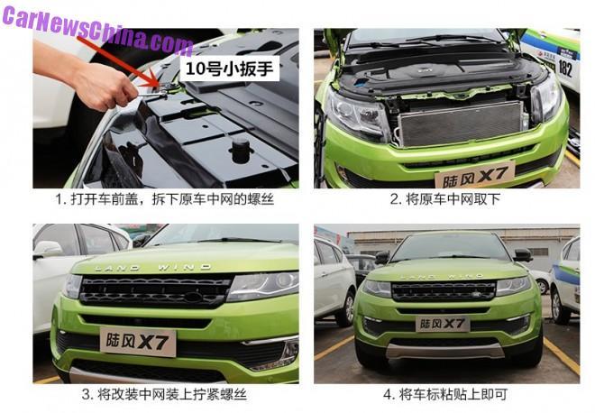 Ya disponible un kit para asemejar más el Landwind X7 al Range Rover Evoque 3