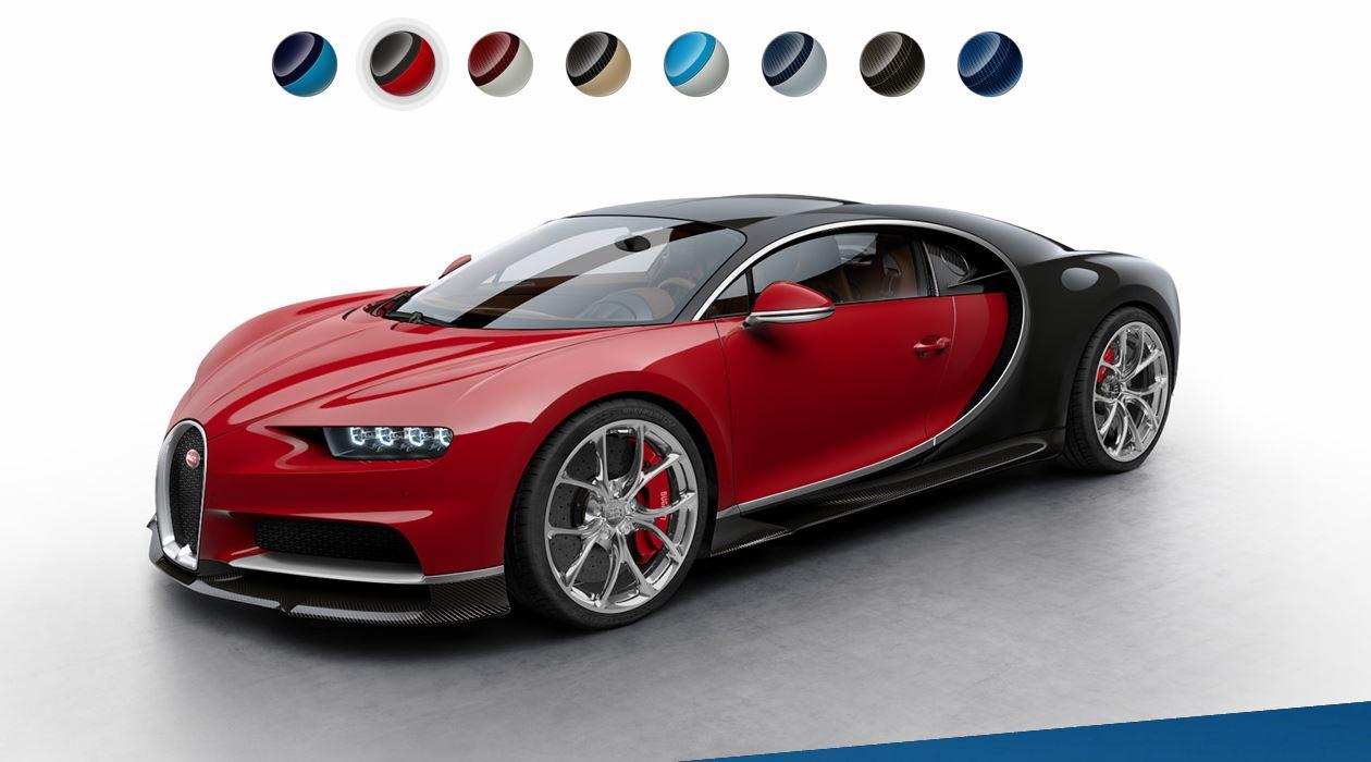 Cambia el color de tu Bugatti Chiron en el nuevo configurador online 1