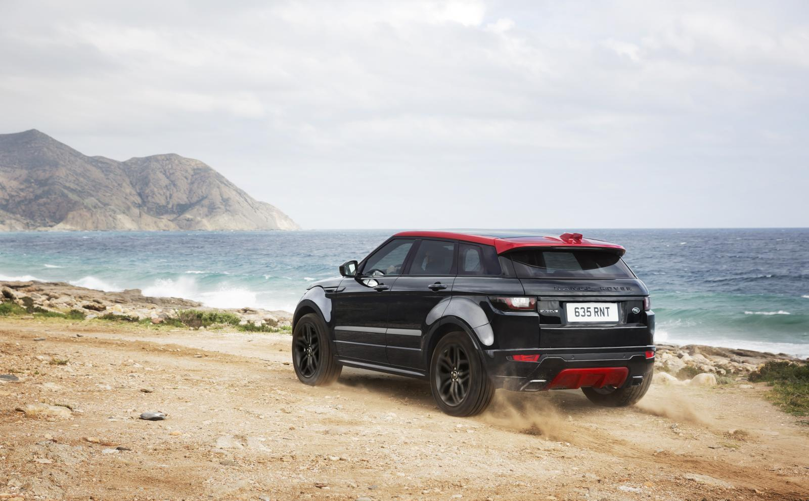 Range Rover Evoque Ember Edition: Negro sobre rojo 4