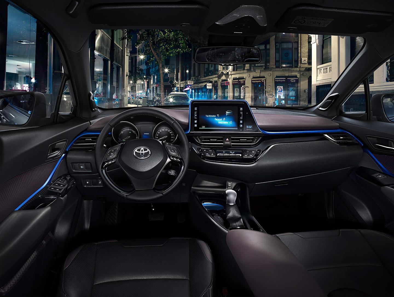 Así es el interior del crossover Toyota C-HR: Una disposición atrevida 1
