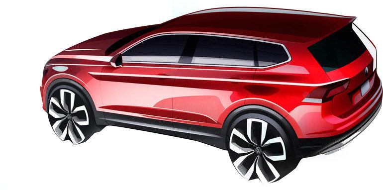 Volkswagen Tiguan Allspace: Así es el previo de la variante de siete plazas antes de su presentación