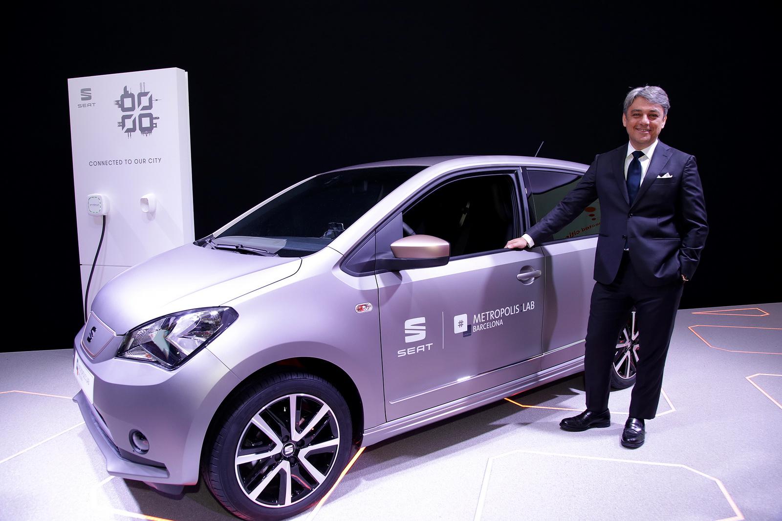 SEAT presenta el prototipo e-Mii en el MWC 2017: El adelanto el Mii eléctrico