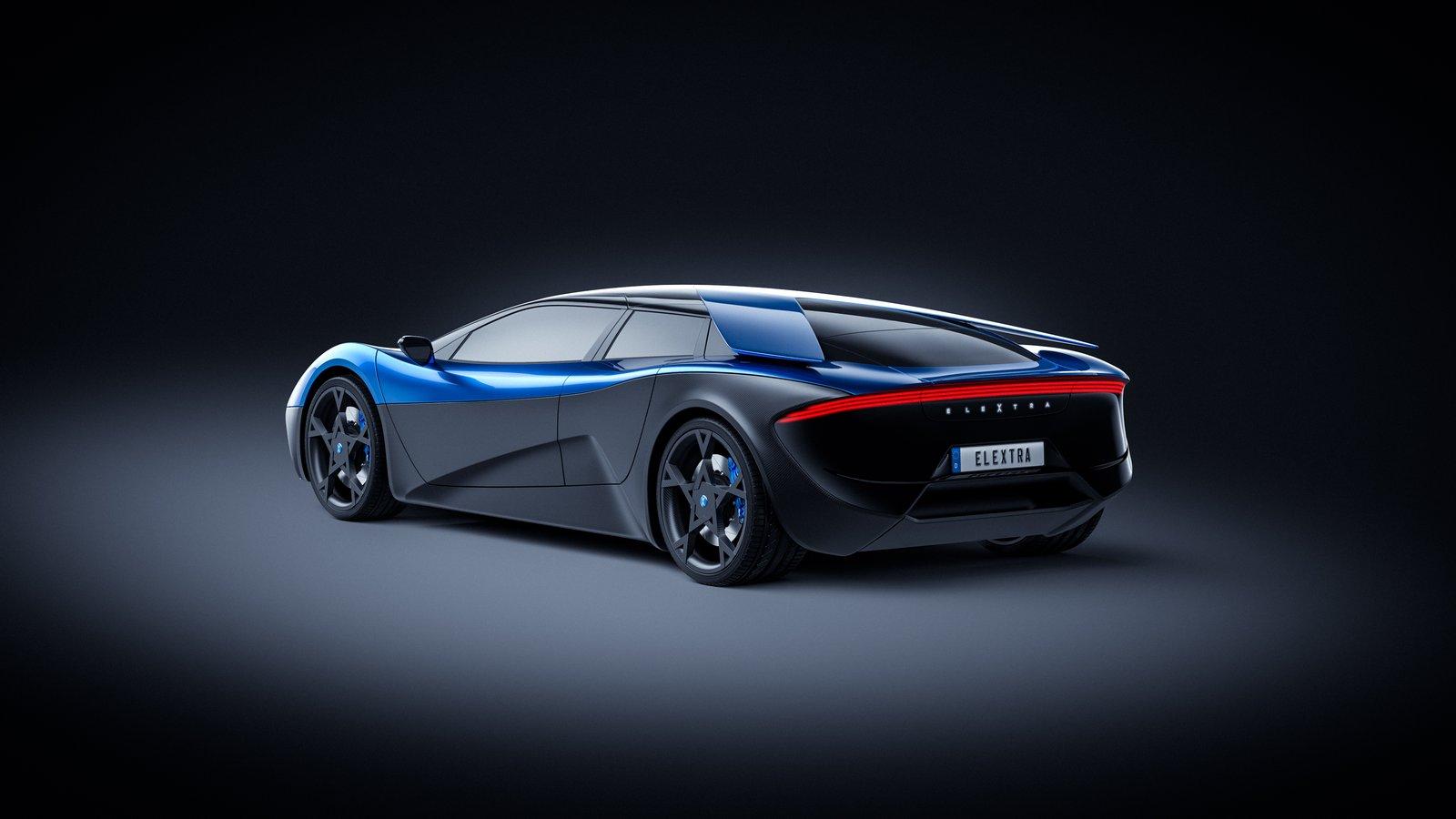 ¡Atención Porsche Mission E! Elextra, un rival que realiza el 0-100 km/h en 2,3 segundos y anuncia 680 CV con 600 kilómetros de autonomía