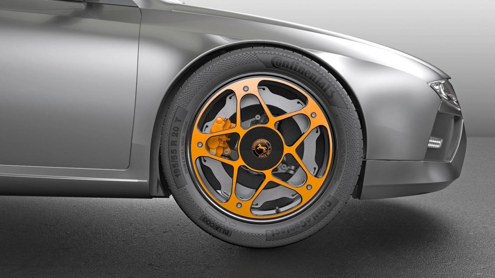 Continental New Wheel Concept: Así se imaginan las llantas y frenos de los eléctricos del futuro