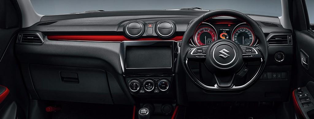 Más imágenes del Suzuki Swift Sport 2018 de 140 CV: Ahora también del interior