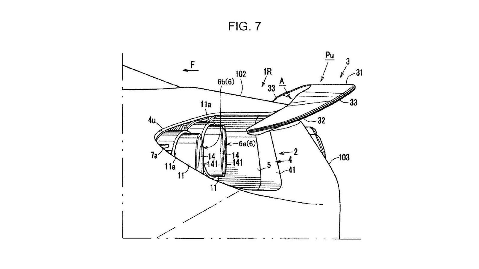 Así es el alerón trasero camuflado en los pilotos traseros patentado por Mazda