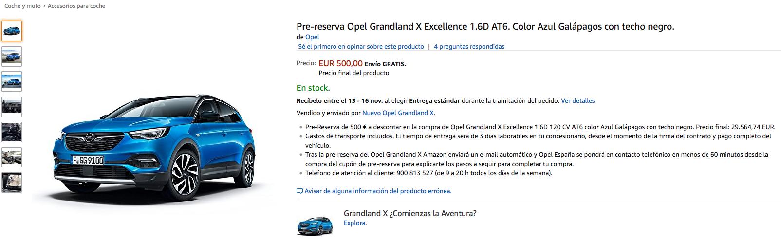Comprar un Opel en España a través de Amazon ya es posible: Por el momento sólo una pequeña tirada de 20 unidades