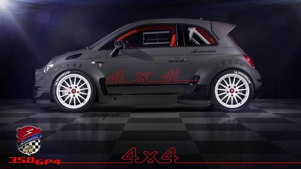 Giannini 350 GP4: Un monstruo en forma de Fiat 500 con 350 CV y tracción total