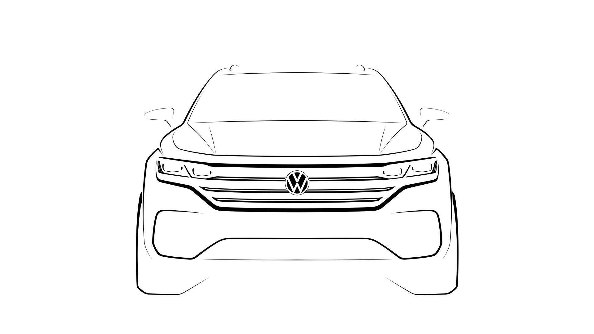 Oficial: así es la silueta del nuevo Volkswagen Touareg, puro músculo