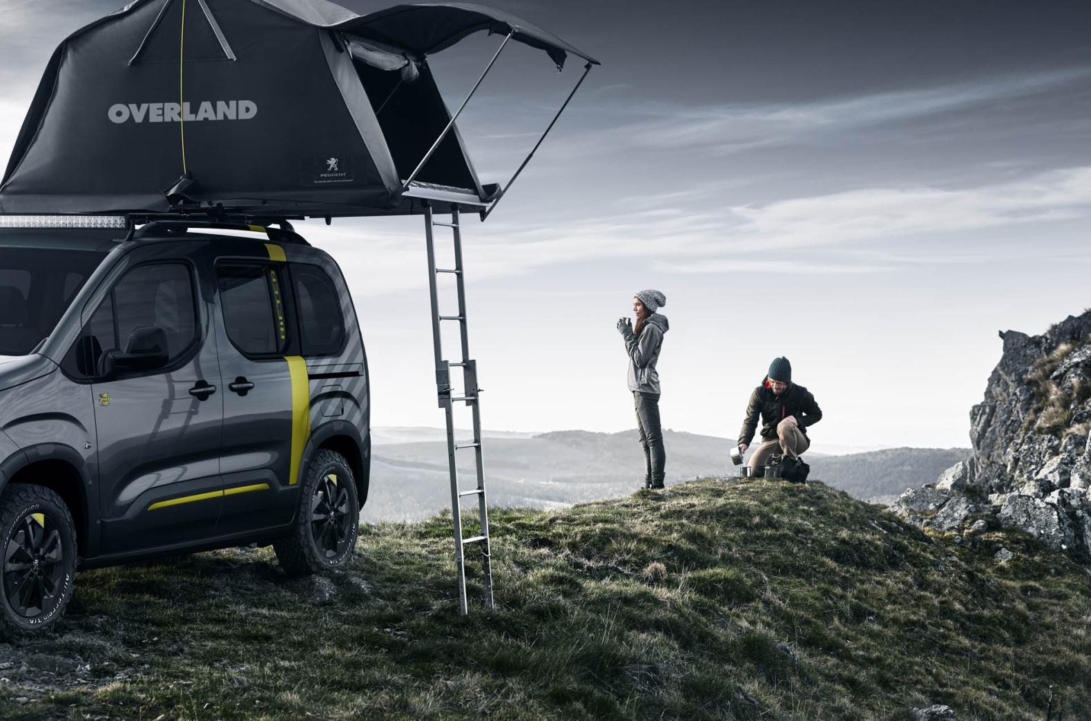 ¿Quieres la tienda de campaña del Peugeot Rifter 4x4 Concept? Ya puedes hacerte con ella