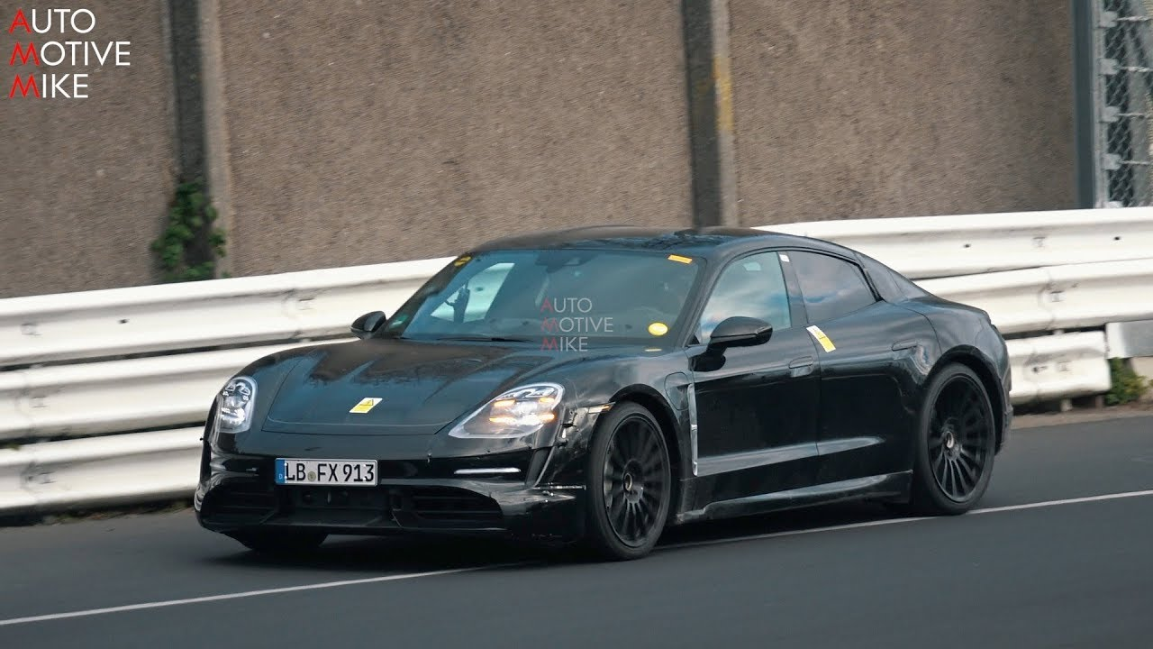 2019 PORSCHE TAYCAN SPIED TESTING AT THE NÜRBURGRING