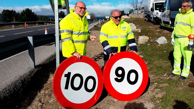 ¡Atención! A partir de mañana el límite pasará de 100 a 90 km/h en carreteras convencionales