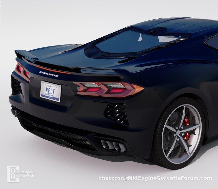 Así será la trasera del nuevo Corvette, ¡brutal!