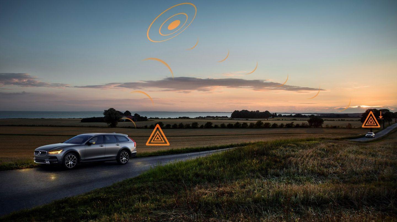 ¿Carretera en malas condiciones? Los modelos de Volvo se informarán entre sí