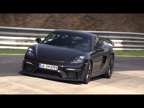 2020 Porsche 718 Cayman GT4 - Exhaust SOUNDS On The Nurburgring!