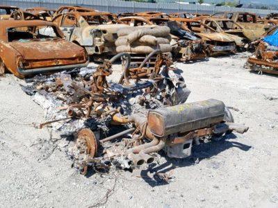¿Tienen algún valor los restos calcinados de un Ferrari F355 Spider de 1999? Parece que sí