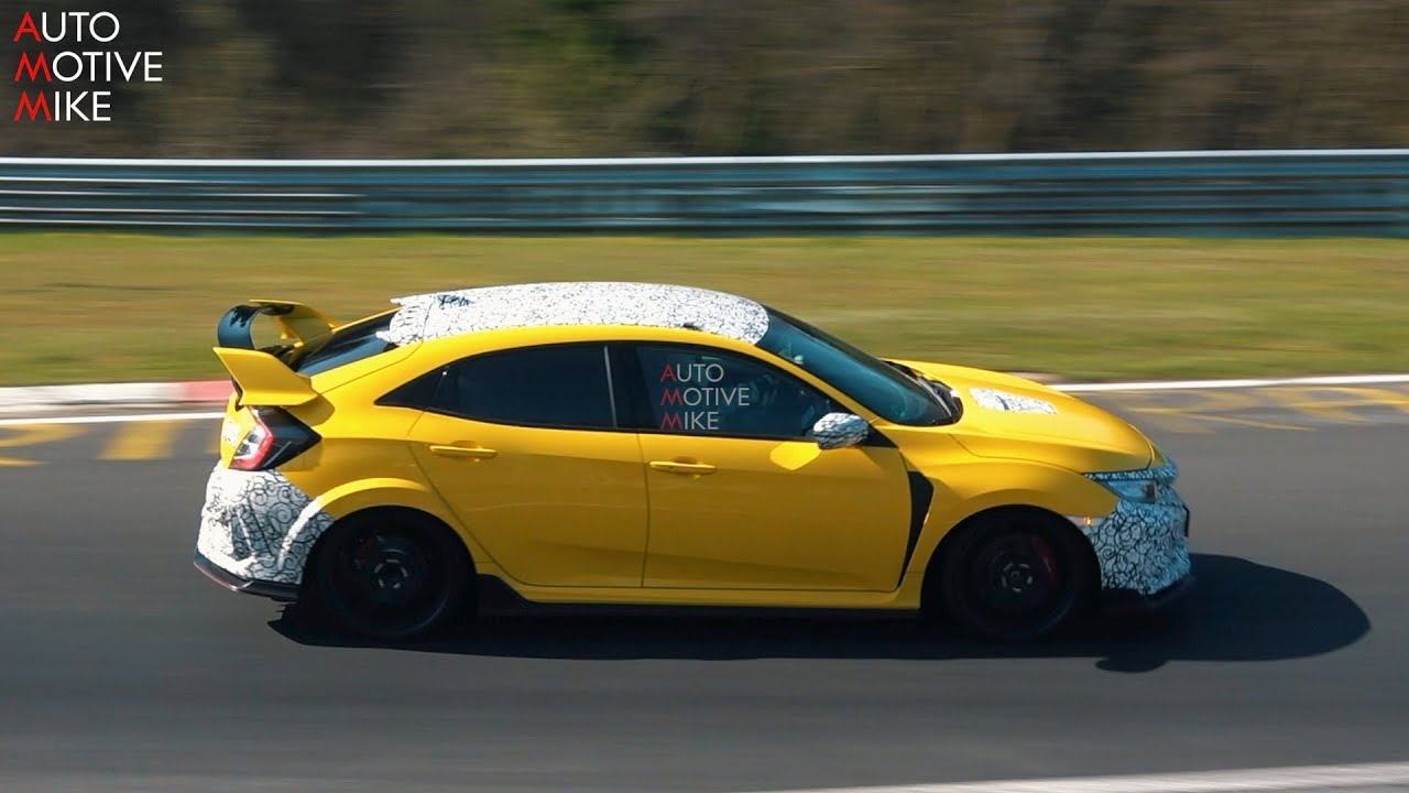 2020 HONDA CIVIC TYPE R SPIED TESTING AT THE NÜRBURGRING