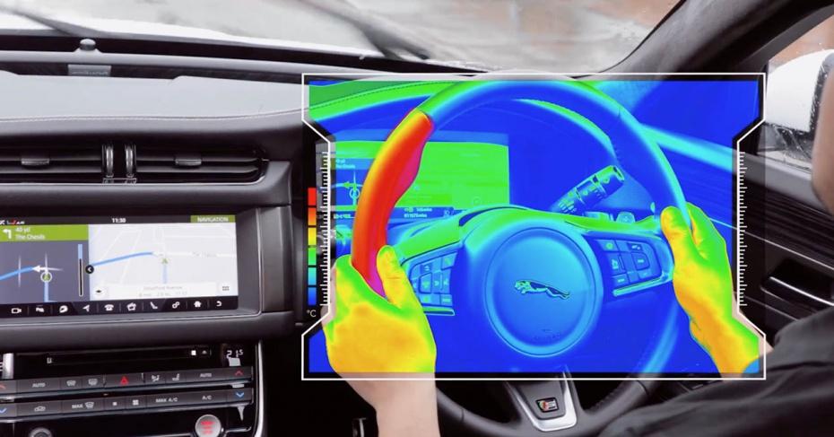 El volante sensorial de Jaguar-Land Rover que se calienta para advertirte de peligros en la carretera