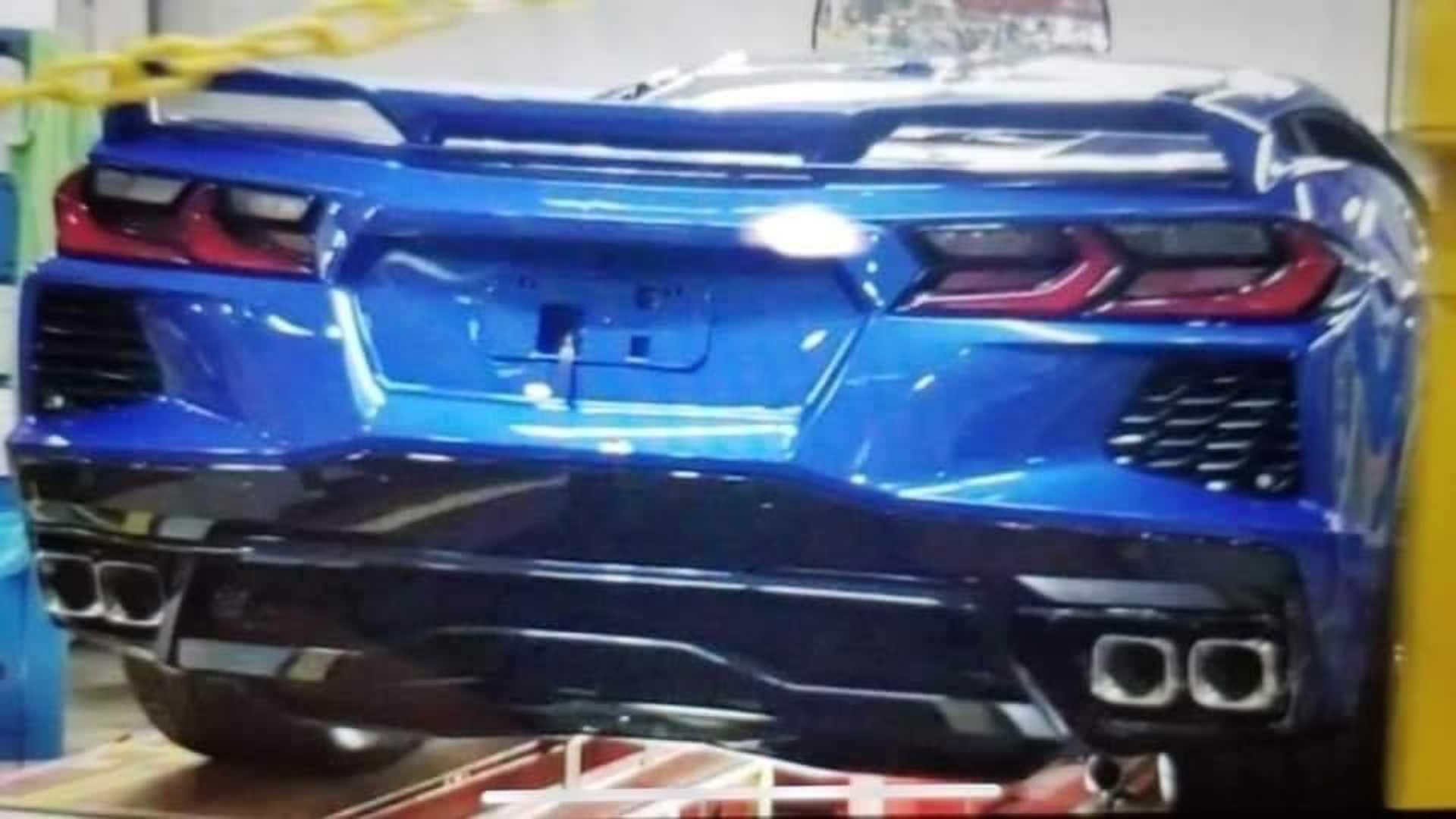 ¡Bombazo! Así es la trasera del nuevo Chevrolet Corvette