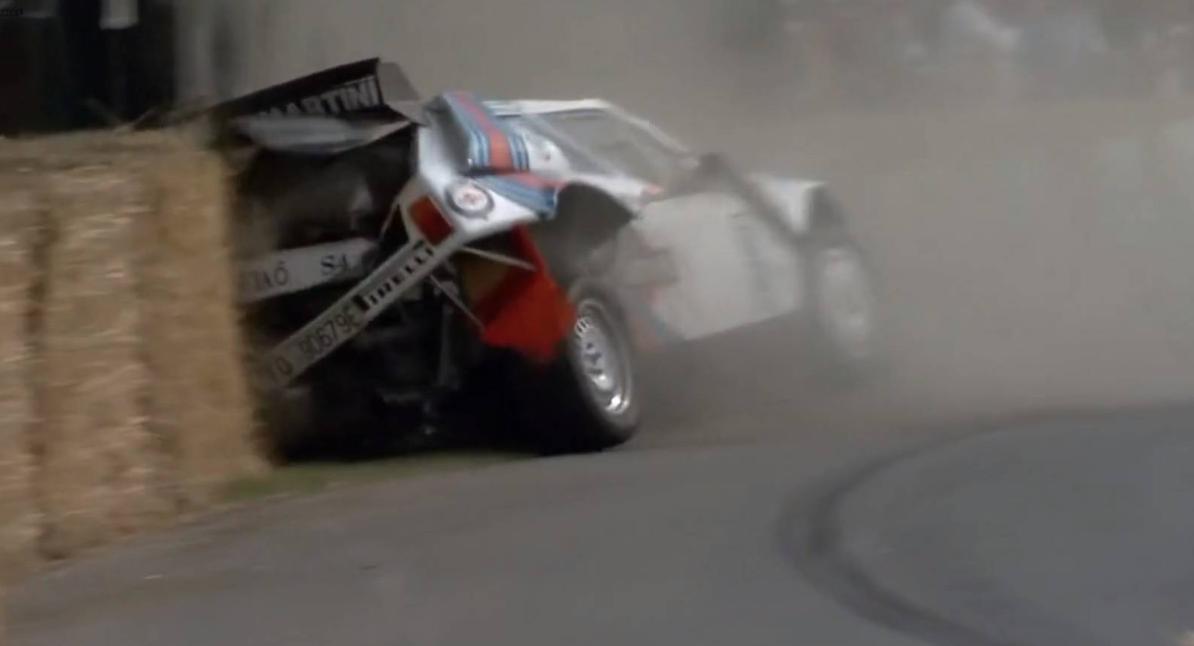Vídeo: Este Lancia Delta S4 se estrelló en Goodwood 2019