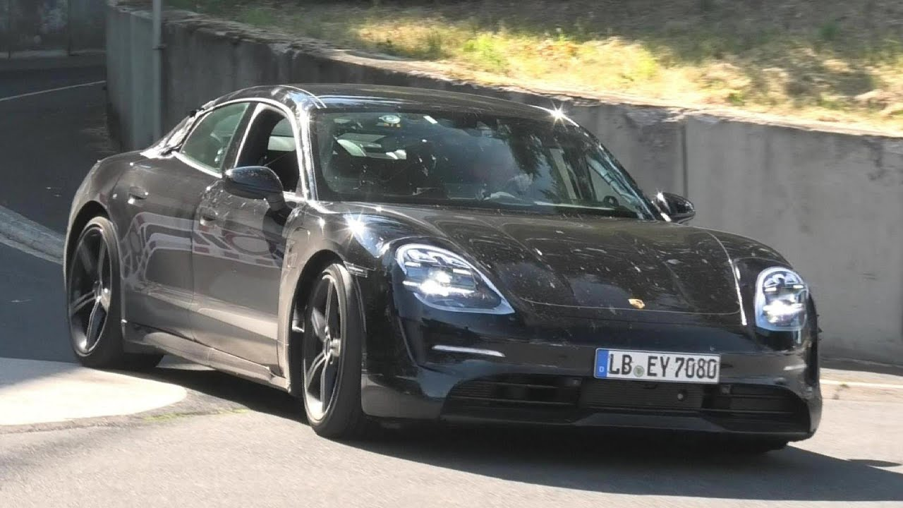 2020 PORSCHE TAYCAN SPIED TESTING AT THE NÜRBURGRING
