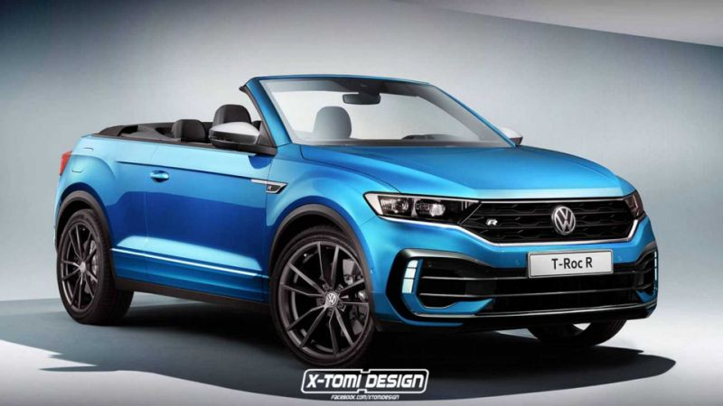 ¿Llegaremos a ver el Volkswagen T-Roc R Cabrio? No lo sabemos, pero te mostramos una recreación