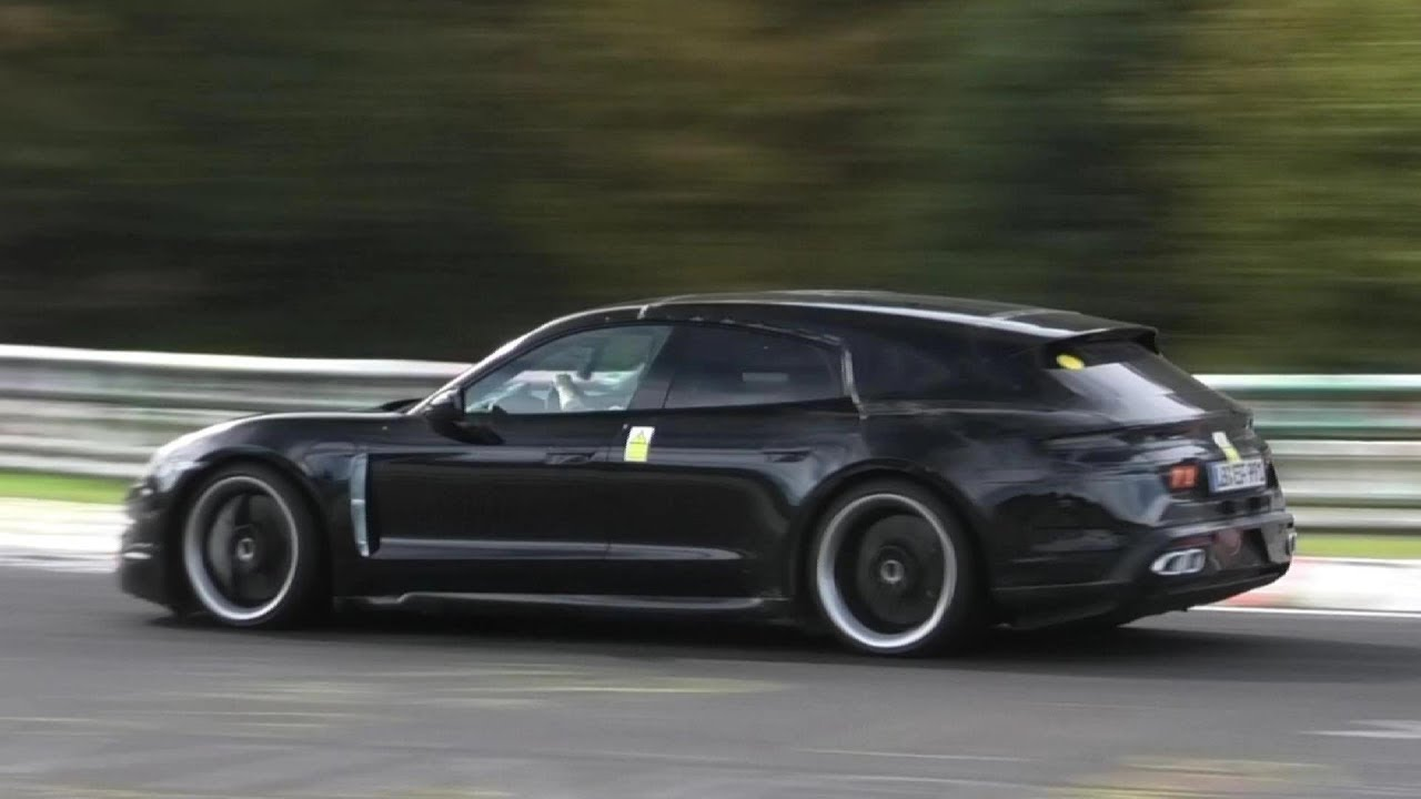 PORSCHE TAYCAN TURBO S CROSS TURISMO & SEDAN Spied at the Nurburgring!