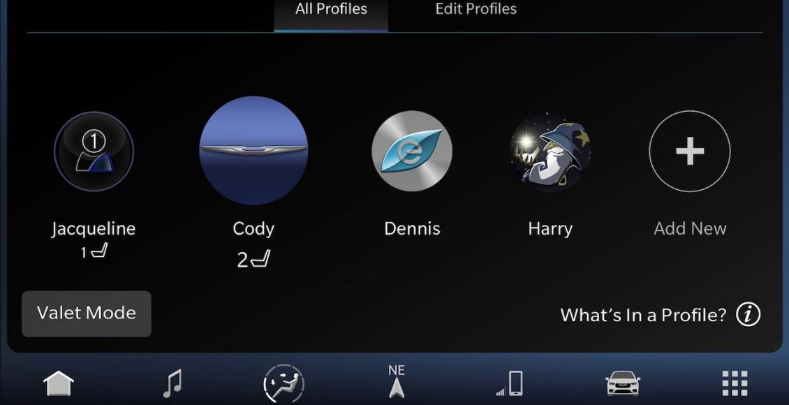 All new Uconnect 5 personalized user profiles