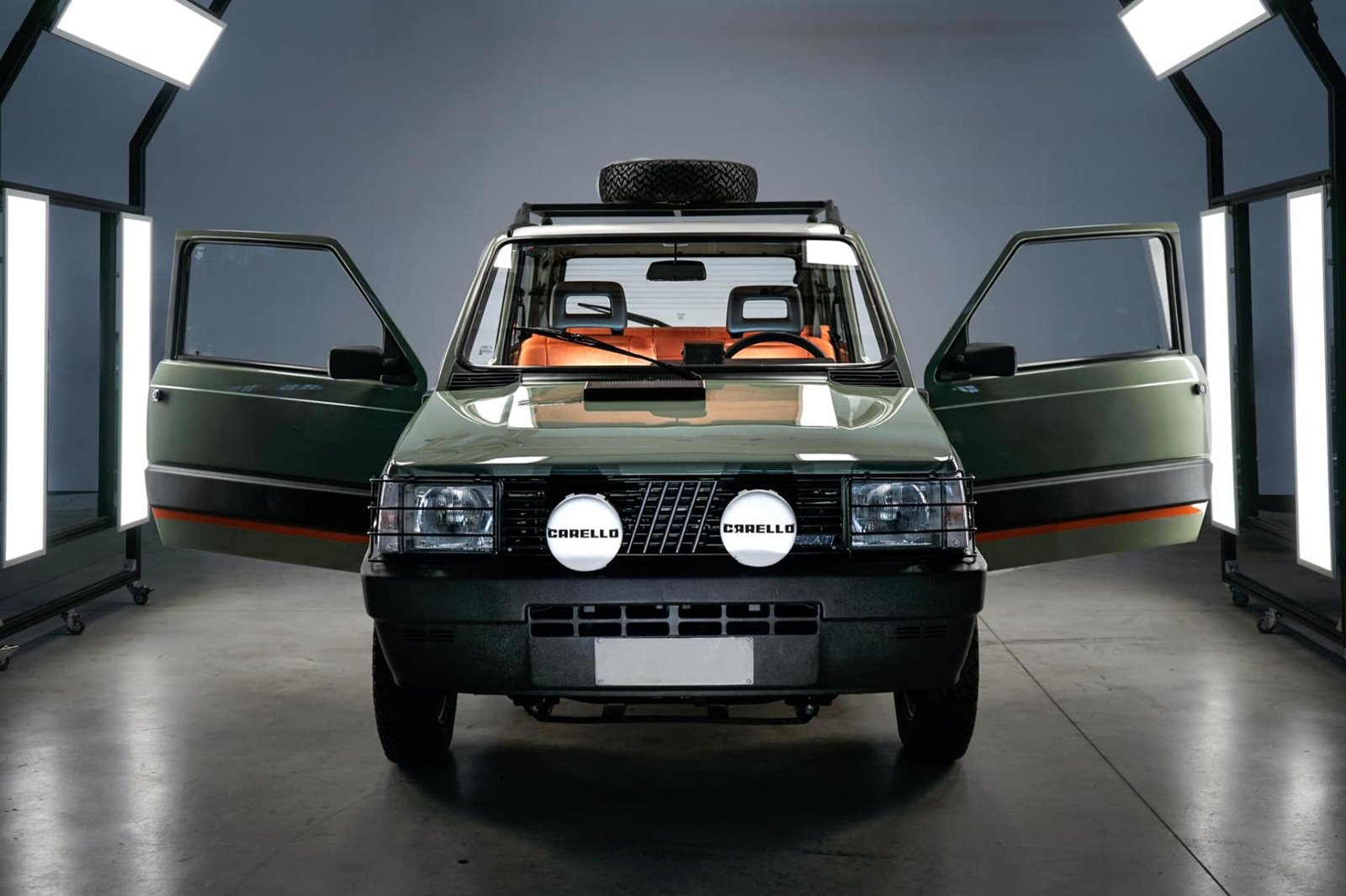 Este Fiat Panda 4x4 ha sido electrificado por Garage Italia Customs y luce así de espectacular