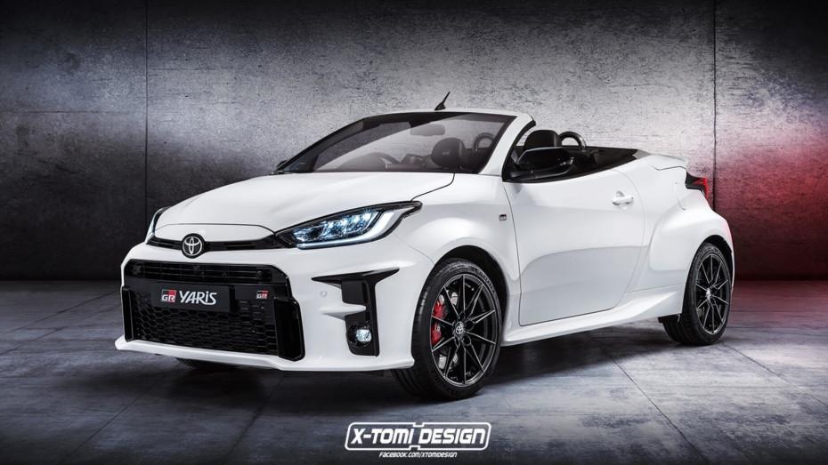 Este Toyota Yaris GR Cabrio no será una realidad, pero a nosotros nos encanta