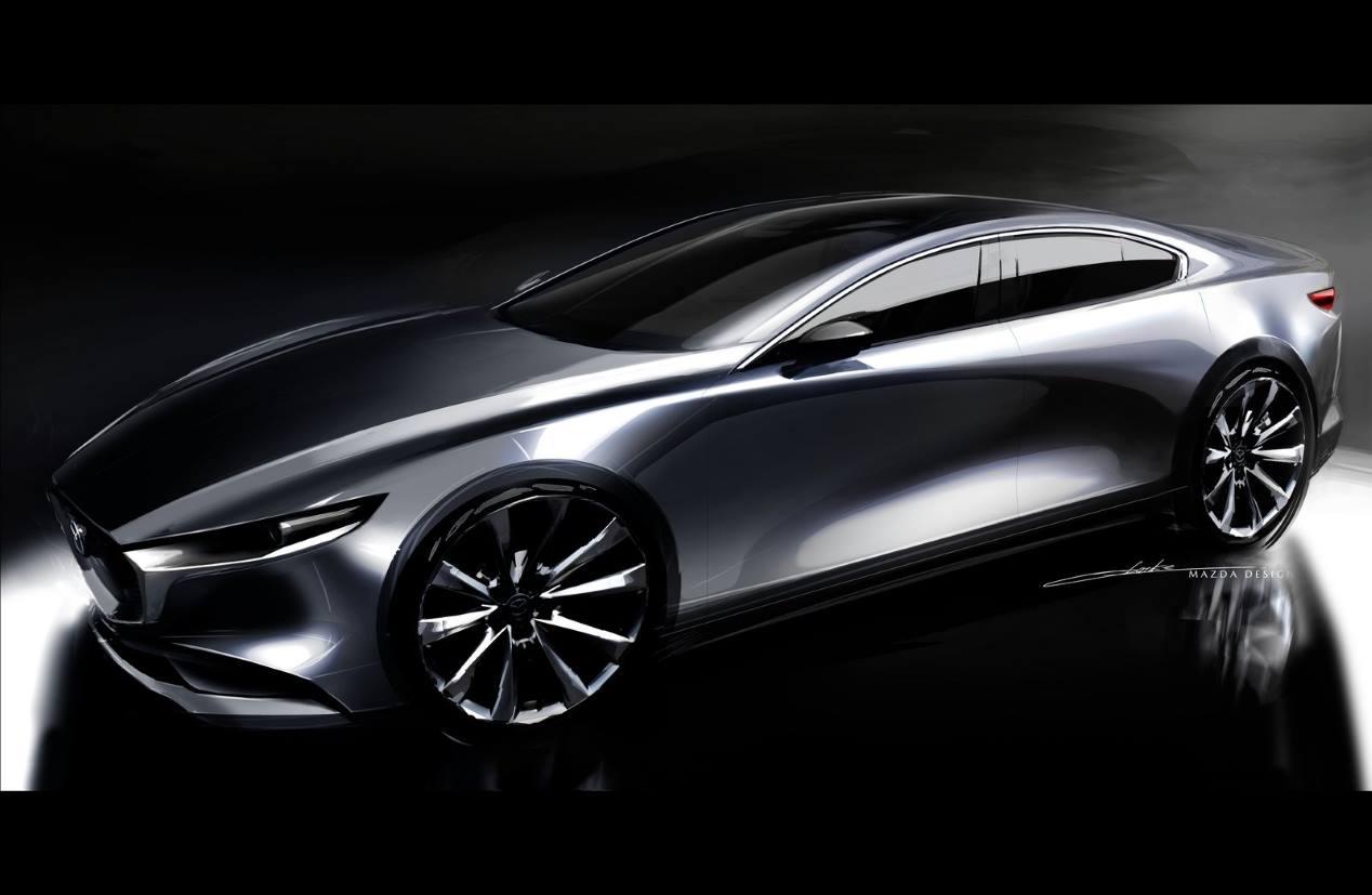La próxima generación del Mazda6 podría contar con propulsión trasera y un motor de seis cilindros