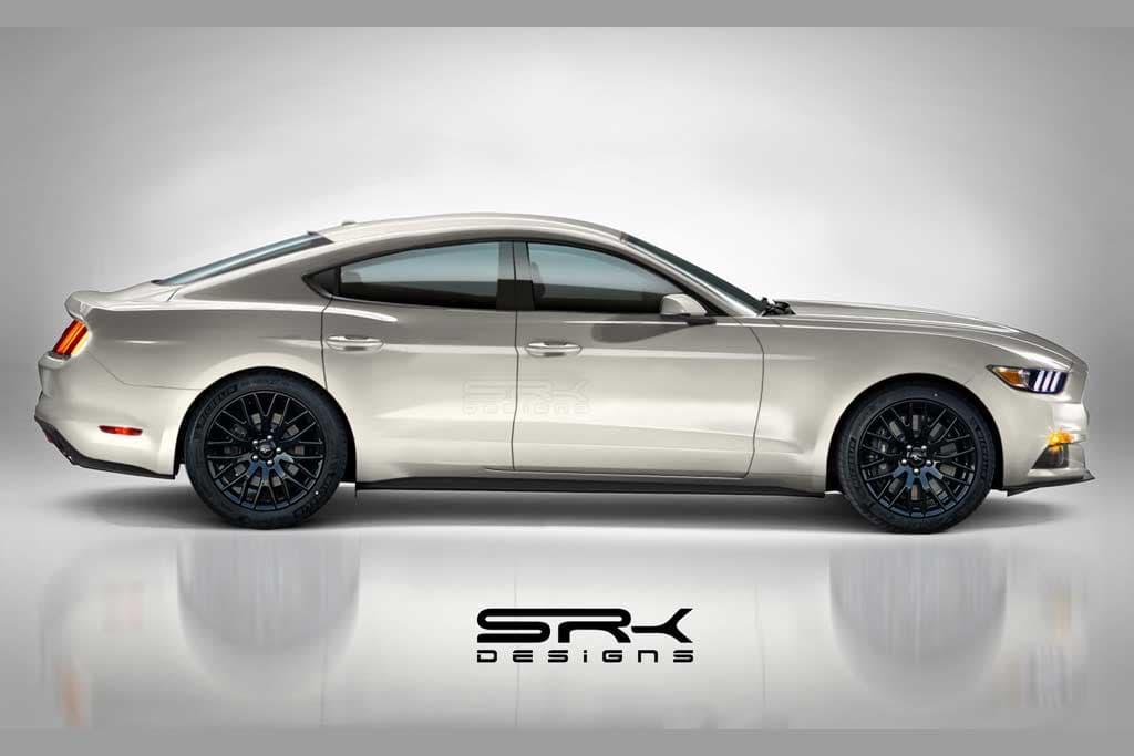 ¿Qué te parece esta recreación de Ford Mustang de cuatro puertas?